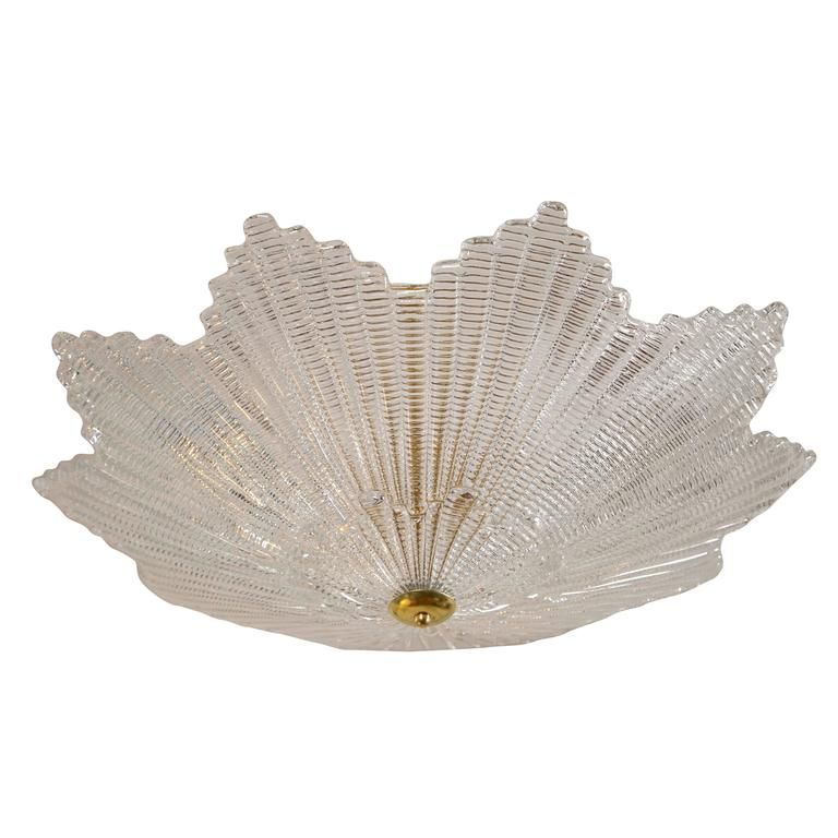 Large Murano Star Shaped Ceiling Fixture L Antiquaire