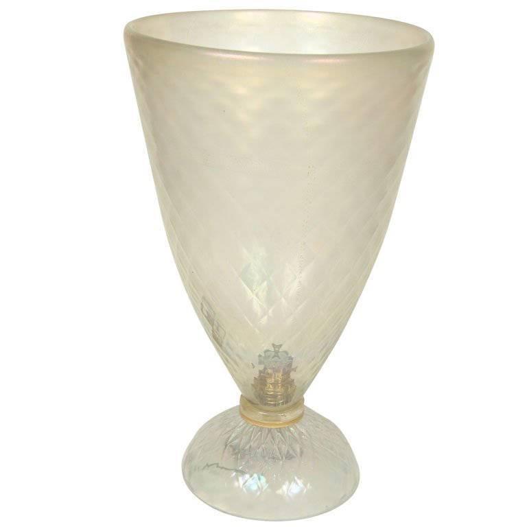 Large Murano Uplight Vase Lantiquaire